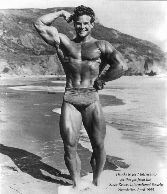 Steve Reeves in the 1950s, holistic training los angeles | Shawn Phillips Personal Trainer